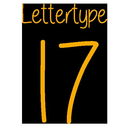 Lettertype 17   Strijkletters