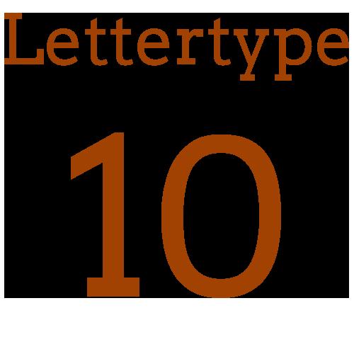Lettertype 10   Strijkletters
