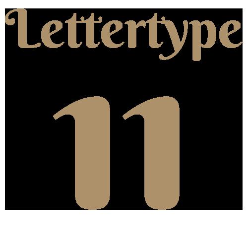 Lettertype 11   Strijkletters