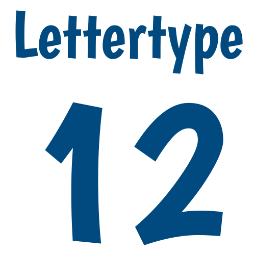 Lettertype 12   Strijkletters