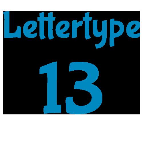 Lettertype 13   Strijkletters