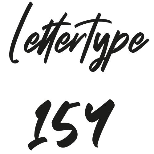 Lettertype 154   Strijkletters