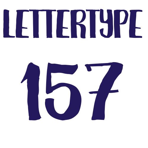 Lettertype 157   Strijkletters