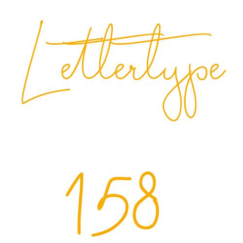 Lettertype 158   Strijkletters