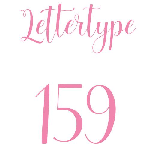 Lettertype 159   Strijkletters