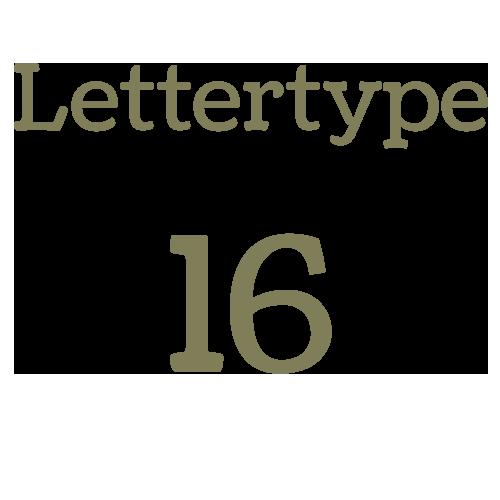Lettertype 16   Strijkletters