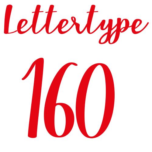 Lettertype 160   Strijkletters
