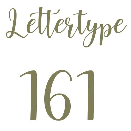 Lettertype 161   Strijkletters