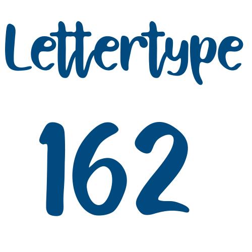 Lettertype 162   Strijkletters
