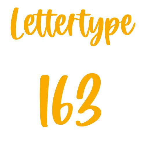 Lettertype 163   Strijkletters