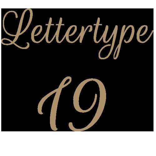 Lettertype 19   Strijkletters