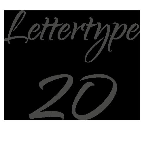 Lettertype 20   Strijkletters