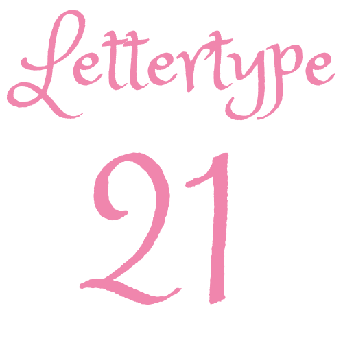 Lettertype 21   Strijkletters