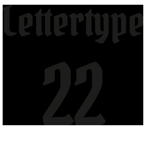 Lettertype 22   Strijkletters