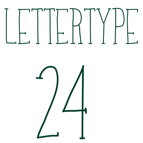 Lettertype 24   Strijkletters