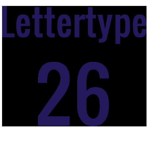 Lettertype 26   Strijkletters