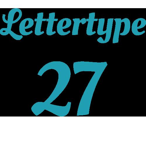 Lettertype 27   Strijkletters