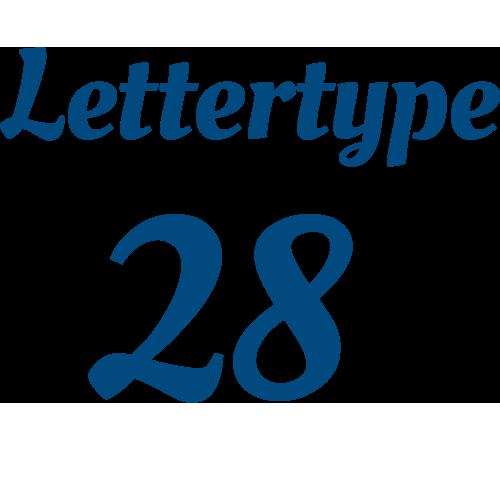 Lettertype 28   Strijkletters