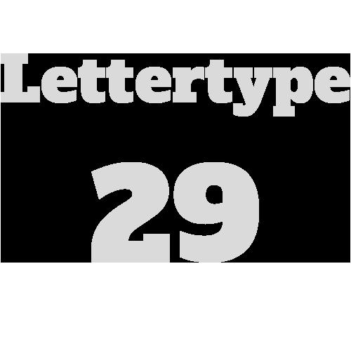 Lettertype 29