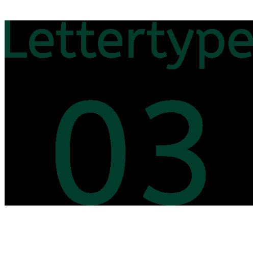 Lettertype 03   Strijkletters