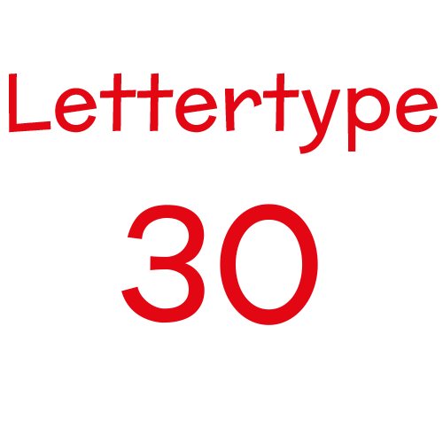Lettertype 30