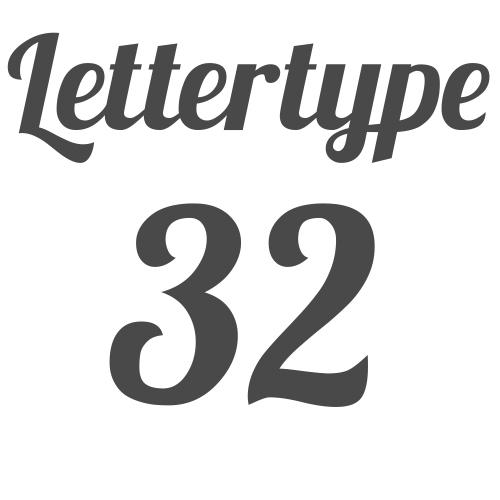 Lettertype 32   Strijkletters