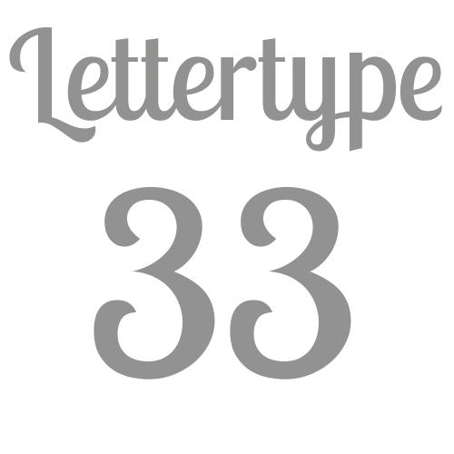 Lettertype 33   Strijkletters