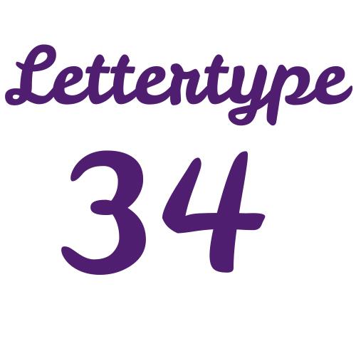 Lettertype 34   Strijkletters