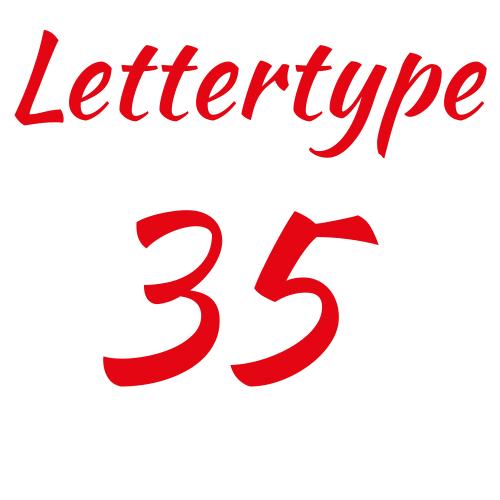 Lettertype 35   Strijkletters