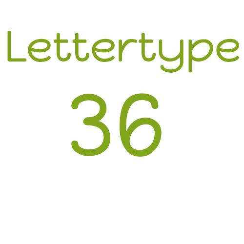 Lettertype 36   Strijkletters