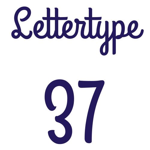 Lettertype 37   Strijkletters