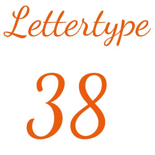 Lettertype 38   Strijkletters
