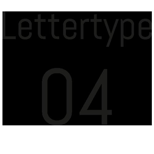 Lettertype 04   Strijkletters