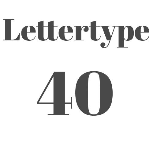 Lettertype 40   Strijkletters
