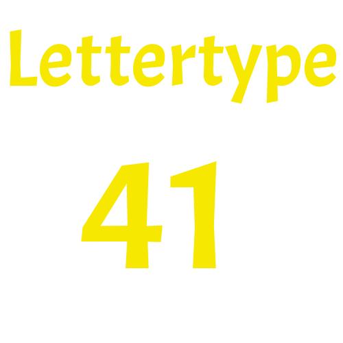 Lettertype 41   Strijkletters