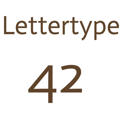 Lettertype 42   Strijkletters