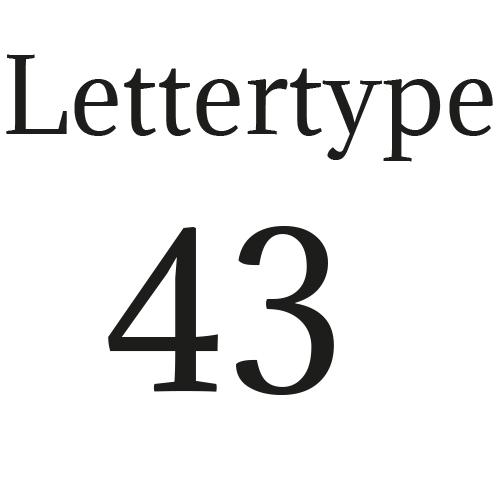 Lettertype 43   Strijkletters