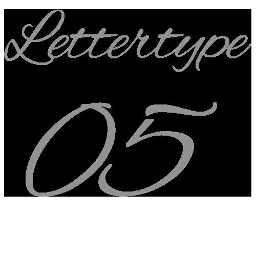 Lettertype 05   Strijkletters