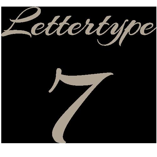 Lettertype 07   Strijkletters