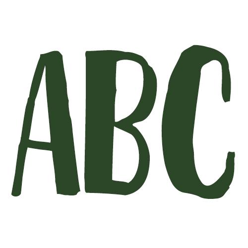 Strijkletters per stuk | Lettertype 157