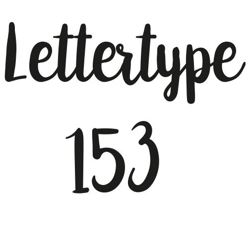 Lettertype 153   Strijkletters