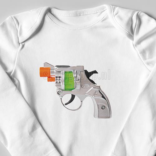 Speelgoed pistooltje strijkapplicatie