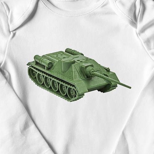 Speelgoed tank Strijkapplicatie