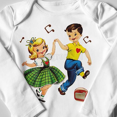Vintage Strijkapplicatie dansen
