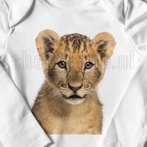 Strijkapplicatie leeuw welpje