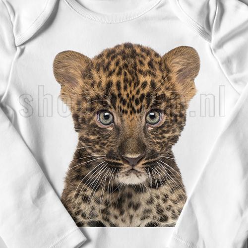 Strijkapplicatie luipaard welpje