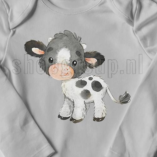 Boerderij koe Strijkapplicatie