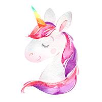 eenhoorn unicorn strijkapplicaties