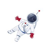 ruimtevaart strijkapplicaties